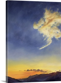 Father's Joy (Cloudscape), 2001 (oil on canvas)