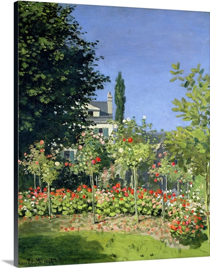 Flowering Garden at Sainte Adresse, c.1866 (oil on canvas)