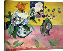 Flowers and a Japanese Print, 1889 (oil on canvas)