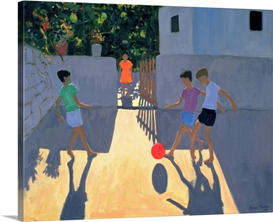 Footballers, Kos, 1993 (oil on canvas)