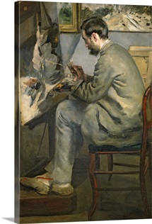 Frederic Bazille at his Easel, 1867 (oil on canvas)