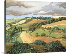 From Solsbury Hill (oil on canvas)