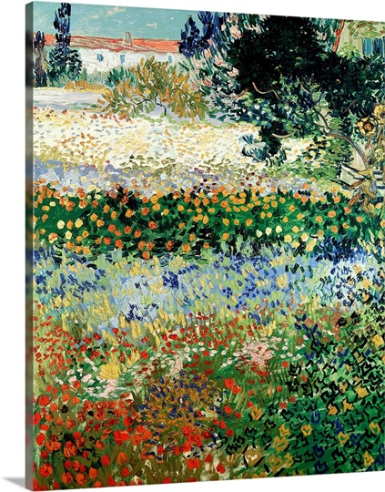 Garden in Bloom, Arles, 1888 (oil on canvas)