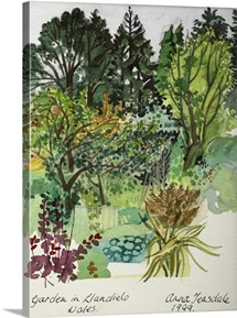 Garden in LLandielo, 1999 (watercolour on paper)