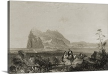 Gibraltar from the Lower Signal Tower (engraving)