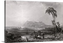 Gibraltar seen from the Algeciras (engraving)