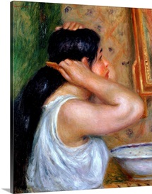 Girl Combing her Hair, 1907 8 (oil on canvas)