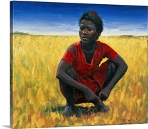Girl in Red, 1992 (oil on canvas)
