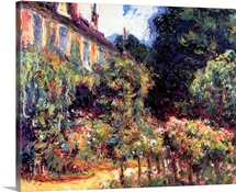 Giverny, the house from the garden, 1913 (oil on canvas)