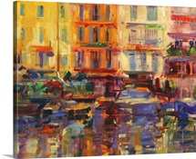 Grand Harbour, Cannes (oil on canvas)
