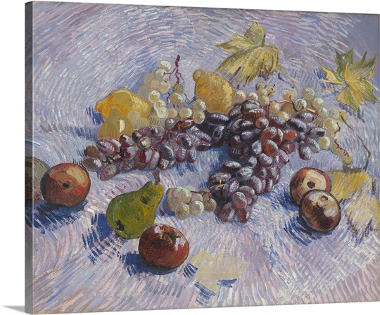Grapes, Lemons, Pears, and Apples, 1887