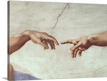 Hands of God and Adam, detail from The Creation of Adam