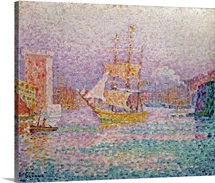 Harbour at Marseilles, c.1906 (oil on canvas)