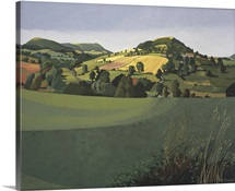 Hawnby, Yorkshire (oil on canvas)