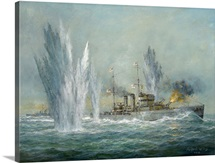 HMS Exeter engaging in the Graf Spree at the Battle of the River Plate, 2009