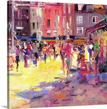 Honfleur Promenade (oil on canvas)