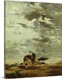 Horseman (oil on canvas)
