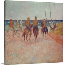 Horseman on the Beach (Hiva Hoa) 1902 (oil on canvas)