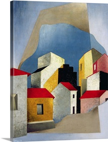 Houses at Lerici, 1932-33 (oil on canvas)