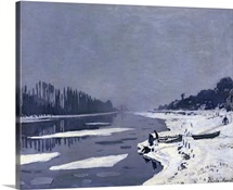 Ice floes on the Seine at Bougival, c.1867 68 (oil on canvas)