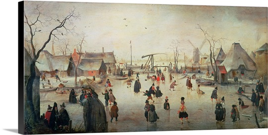 Ice Sports, c.1610 (panel)