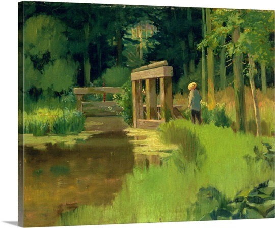 In a Park (oil on canvas)