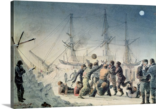 Incidents on a Trading Journey: Men Playing Football on Board HMS 'Terror', 1836