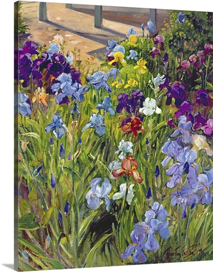 Irises and Summer House Shadows, 1996 (oil on canvas)