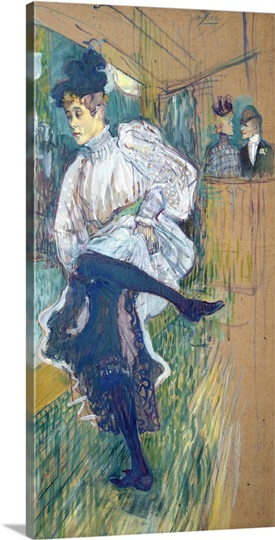 Jane Avril (1868 1943) Dancing, c.1892 (oil on card)