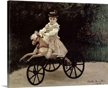 Jean Monet on his Hobby Horse, 1872 (oil on canvas)