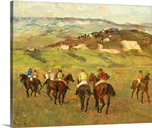 Jockeys on Horseback before Distant Hills, 1884