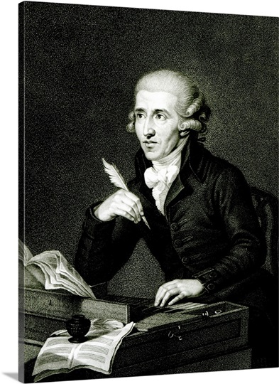 Joseph Haydn (1732-1809) c.1770 (oil on canvas) (b/w photo)