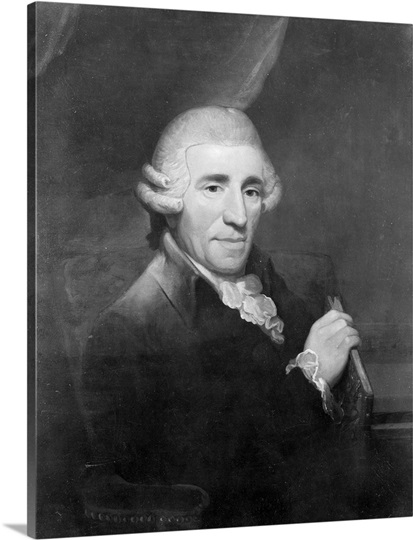 Joseph Haydn (1732-1809) (oil on canvas) (b/w photo)