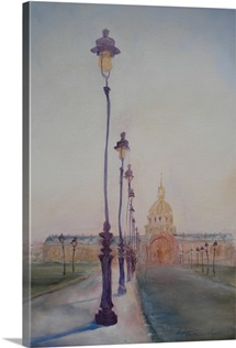 Lamp Post in front of Dome Church, 2010 (oil on canvas)
