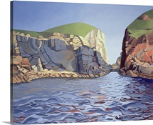 Land and Sea No. I, Ramsey Island (oil on canvas)