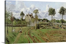 Landscape, Louveciennes, c.1872 (oil on canvas)
