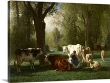 Landscape with Cattle and Sheep, 1852-8