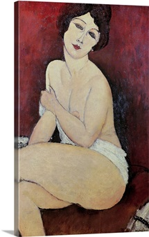 Large Seated Nude (oil on canvas)