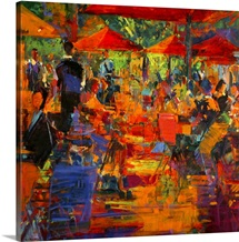 Le Grand Cafe, 2011 (oil on canvas)
