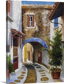 Lefkimi, Corfu, 2006 (oil on board)