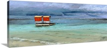 Lifeguard Station, Mauritius, 2008 (oil on canvas)