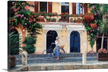 Limone, Lake Garda, Italy, 2003 (oil on canvas)