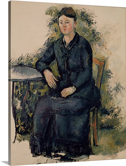 Madame Cezanne in the Garden, 1880 82 (oil on canvas)