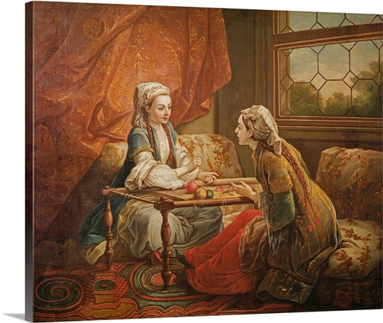 Madame de Pompadour in the role of fortuneteller (oil on canvas)