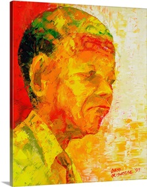 Mandela, 1993 (oil on board)