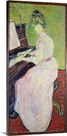 Marguerite Gachet at the Piano, 1890 (oil on canvas)