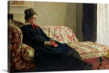 Meditation, or Madame Monet on the Sofa, c.1871 (oil on canvas)