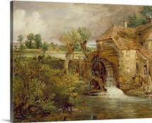 Mill at Gillingham, Dorset, 1825-26 (oil on canvas)