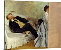 Monsieur and Madame Edouard Manet, 1868 69 (oil on canvas)