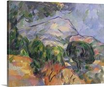 Montagne Sainte Victoire au dessus de la route du Tholonet, c.1904 (oil on canvas)